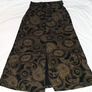 Susan Lawrence Sun Moon Faux Button Maxi Skirt